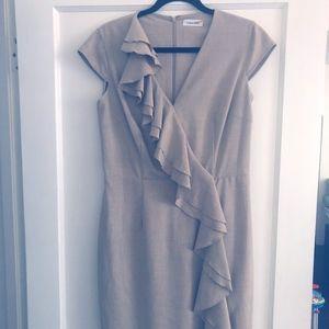 Calvin Klein Front Ruffle Dress, Size 10